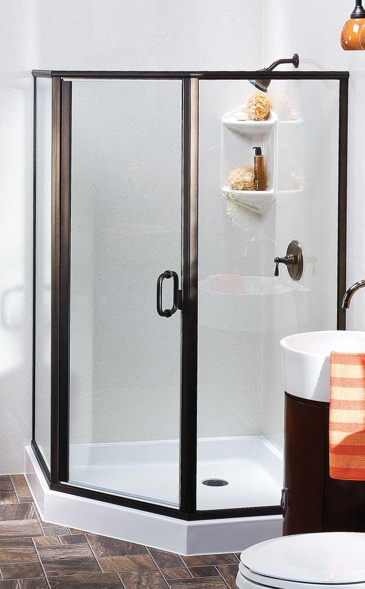 corner shower remodel
