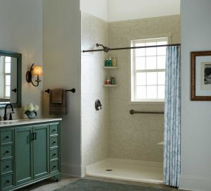 No Threshold Shower Bathroom Remodel