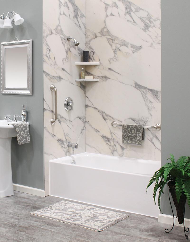 granite look bathwrap
