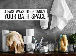 bathroom accessories - featured image: 4 easy ways to organize your bath space