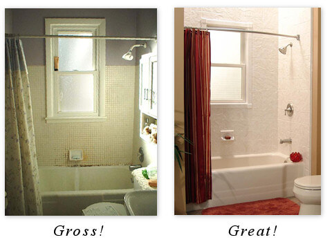 replacement bathtub revitalizes any bathroom (before and after shots)