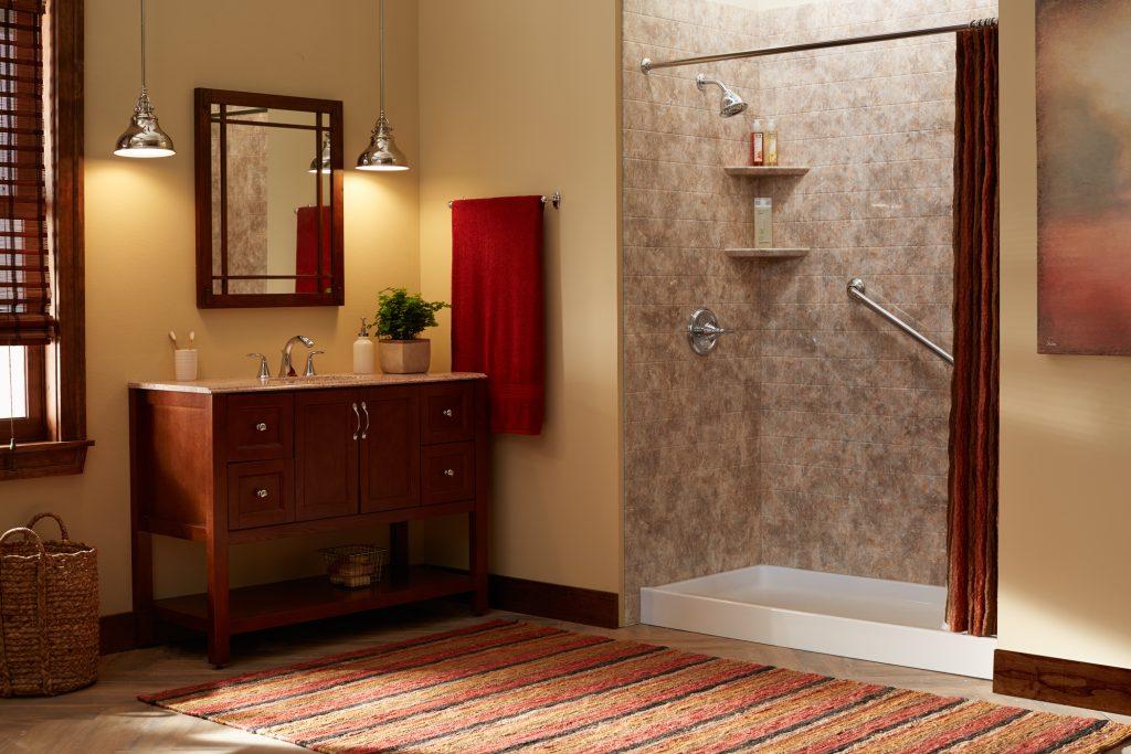 Low Threshold Shower Bathroom Remodel